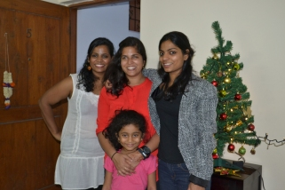with amai, nithya, and nilah. bangalore, india. december 2015.