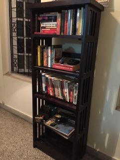 the rhodes bookshelf from urban ladder. bangalore, india. january 2016