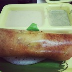 delicious benne masala dosa from ctr. bangalore, india. january 2016.