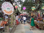 walking into kitsch mandi. bangalore, india. january 2016.