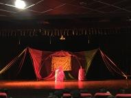 fantastic performance of hamlet by the handlebards. bangalore, india. january 2016.