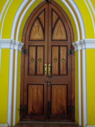 gorgeous door at the palace. bangalore, india. january 2016.