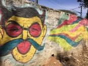 cool street art in vasanth nagar. bangalore, india. january 2016.