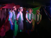 another week, another fantastic handlebards show. bangalore, india. february 2016.