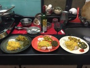 yummy homemade dinner. bombay, india. february 2016.