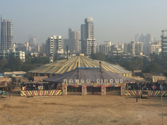 the circus came to town. bombay, india. february 2016.