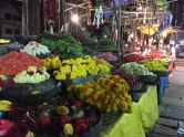 all the pretty flowers for sale at gandhi bazaar. bangalore, india. february 2016.