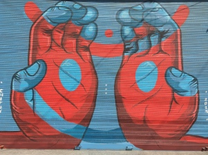 artwork outside church street social. bangalore, india. february 2016.