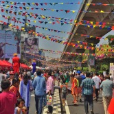 open streets event on mg road. bangalore, india. february 2016.