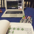 kicking off my four-day weekend with colouring and cricket. bangalore, india. march 2016.