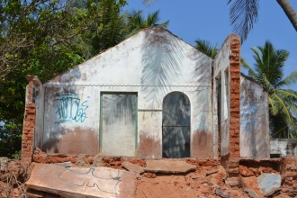 being built, or being torn down? pondicherry, india. march 2016.