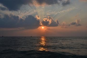 gorgeous pondicherry sunrise. pondicherry, india. march 2016.
