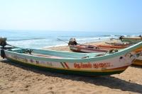 fishing boats taking a break. pondicherry, india. march 2016.
