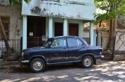 ambassador on the streets. pondicherry, india. march 2016.