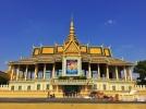 exterior of cambodia's royal palace. phnom penh, cambodia. may 2016.