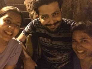 with ana and deboo at banganga tank. bombay, india. may 2016.