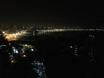 the view of marine drive from the hanging gardens. bombay, india. may 2016.