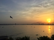 sunrise over the city. bombay, india. may 2016.