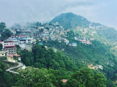 misty mussoorie morning. mussoorie, india. may 2016.
