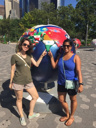maggie and i near india, since we didn't take any photos in india. new york, new york. june 2016.