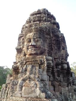 the many faces of bayon. siem reap, cambodia. may 2016.