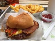 shake shack birthday burger. new york, new york. july 2016.