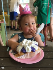this girl loves her some cake. nashville, tennessee. august 2016.