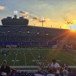 sunset at the liberty bowl. memphis, tennessee. september 2016.