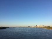 a great view of memphis from the middle of the bridge. october 2016.