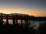 watching the sun set behind the harahan bridge. memphis, tennessee. october 2016.