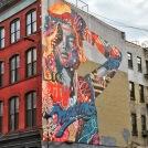 manhattan street art. new york, new york. october 2017.
