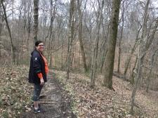 my hiking companion. memphis, tennessee. january 2018.
