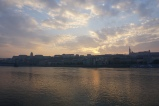 danube sunsets are pretty. budapest, hungary. november 2018.