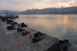 shoes on the danube. budapest, hungary. november 2018.