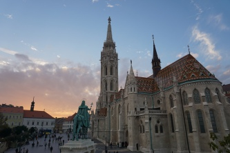 matthias church. budapest, hungary. november 2018.