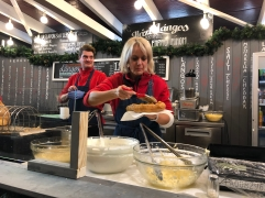 delicious langos. budapest, hungary. november 2018.