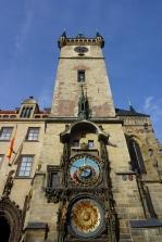 astronomical clock tower. prague, czech republic. november 2018.