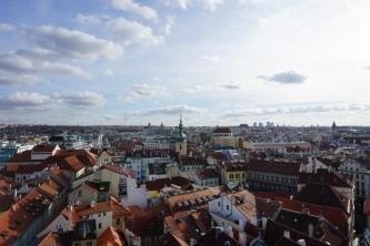 views from the tower. prague, czech republic. november 2018.