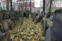 old jewish cemetery. prague, czech republic. november 2018.