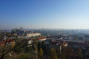 castle views. prague, czech republic. november 2018.
