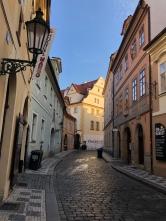 quiet prague streets. prague, czech republic. november 2018.