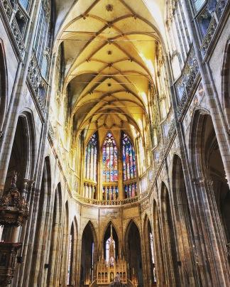 st vitus cathedral. prague, czech republic. november 2018.