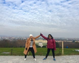 we finally perfected the pose. vienna, austria. november 2018.